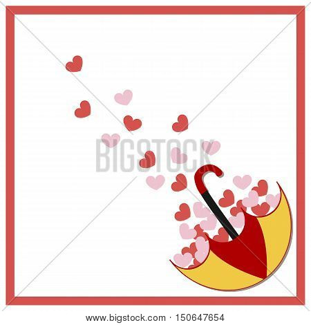 template for greeting card invitation or congratulations. Baby shower or arrival. Cute vector illustration