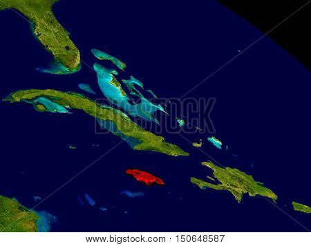 Jamaica From Space