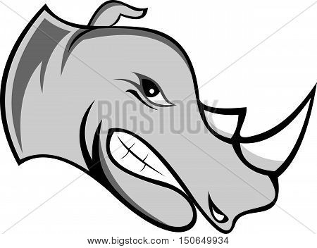 logo illustration cartoon the queen of rhino
