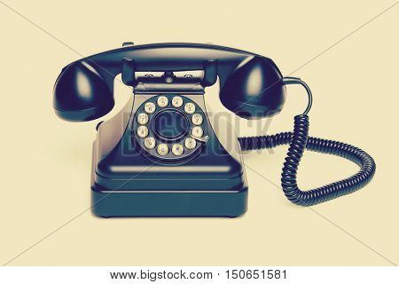 Old vintage telephone with filter