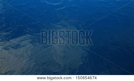 3D illustration depicting the restless waves of the sea