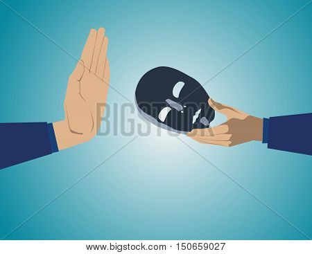 Stop stop the bad business or bad idea. Concept business illustration. Vector flat