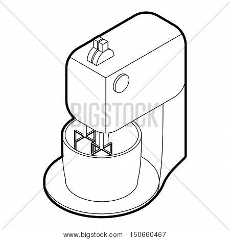 Kitchen mixer icon in outline style on a white background vector illustration