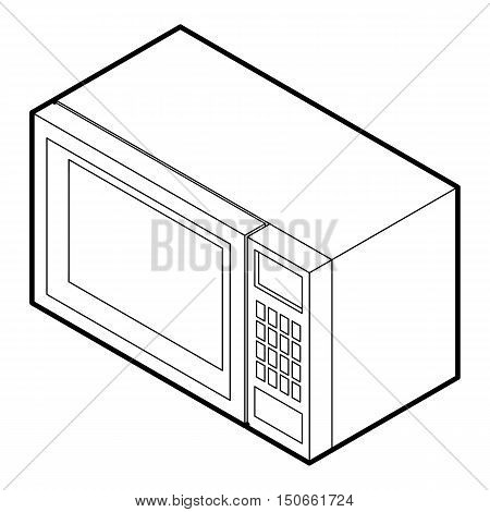 Microwave icon in outline style on a white background vector illustration