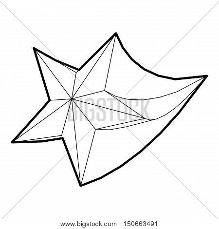 Comet icon in outline style on a white background vector illustration