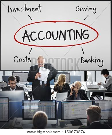 Budget Commerce Revenue Accounting Assets Concept