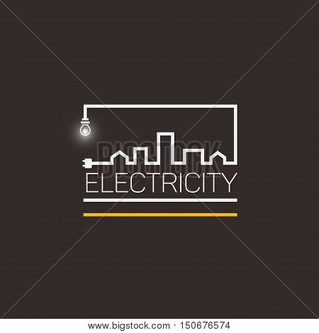 Interesting logo electricity and city vector .
