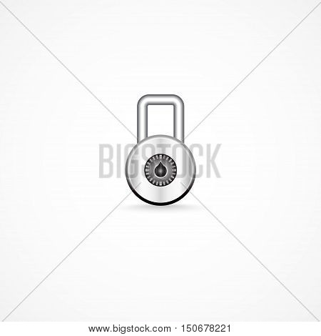 A combination lock all editable vector .