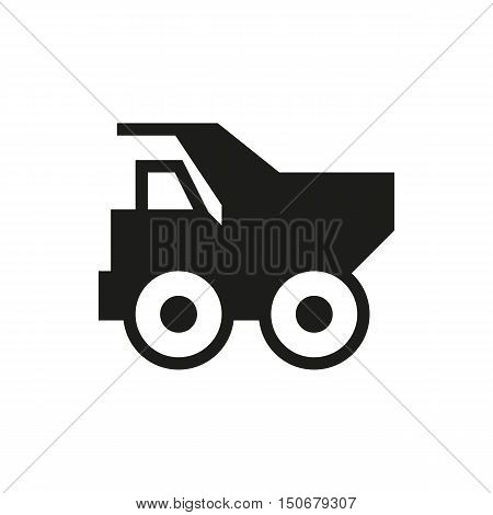 Dump truck icon on white background Created For Mobile Infographics Web Decor Print Products Applications. Icon isolated. Vector illustration