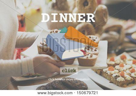 Dinner Diner Menu Food Concept