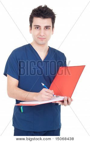 Doctor Making A Note