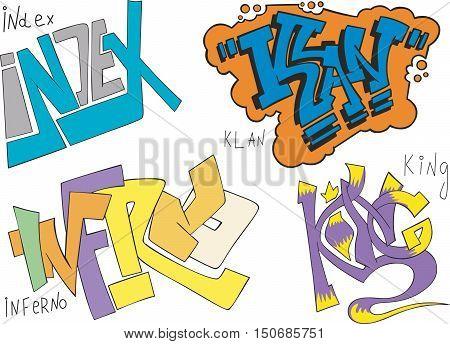 Index, Klan, Inferno And King Graffiti