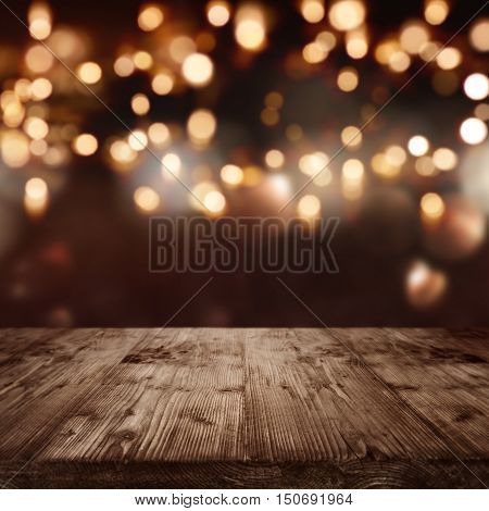 Background with lights for celebratory events and bokeh