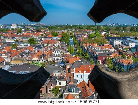 View Of The Roofs Of The Houses Of Delft, Netherlands