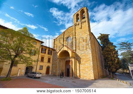 ITALY,AREZZO,ITALY-APRIL 18,2015:Duomo of San Domenico in Arezzo