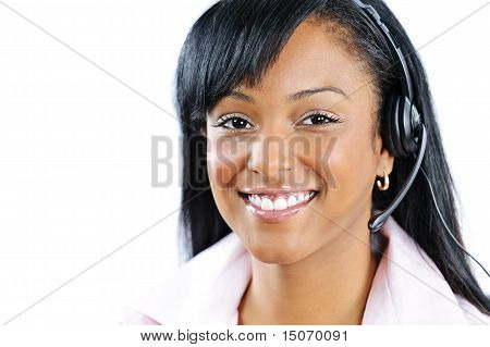 Customer Service And Support Representative With Headset