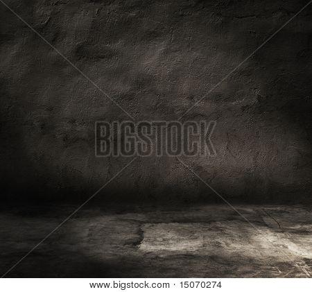 dark grunge interior