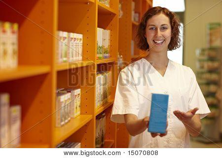 Pharmacist Recommending Medicine