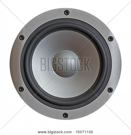 modern hi-fi sound speaker isolated on white background