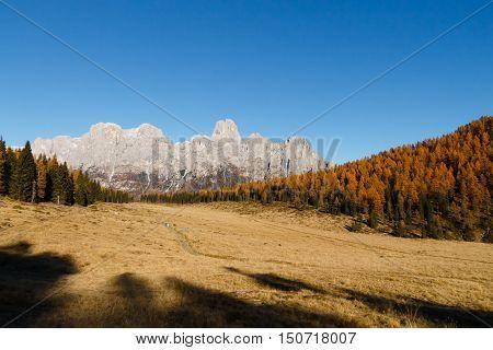 Autumn Panorama From Italian Alps