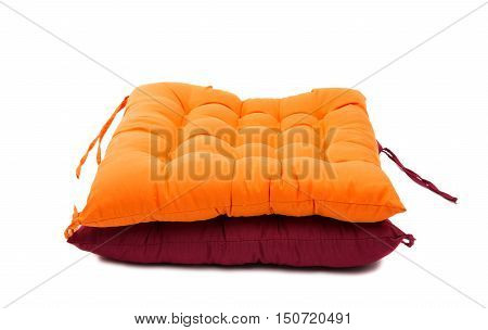 chair cushion puffy isolated on white background