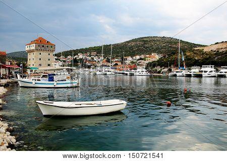 Boats And Yachts At Anchor