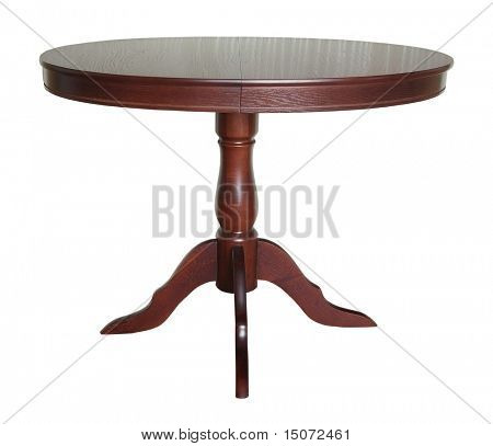 table isolated on white background with clipping path