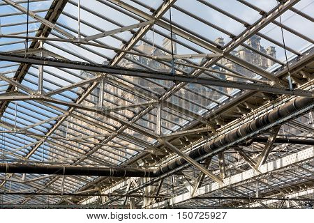 Roof Of The Waverly Station In Edinburgh, Scotland