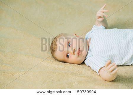 Cute Baby Boy In Romper