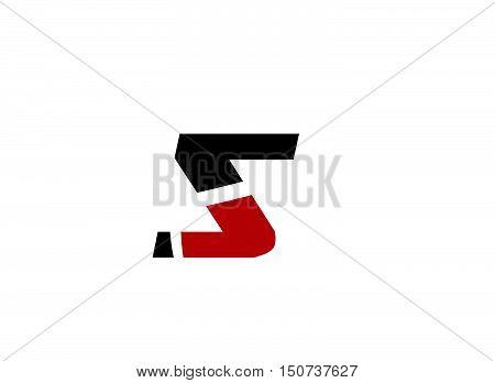 Number five logo.Logo 5 vector template 1