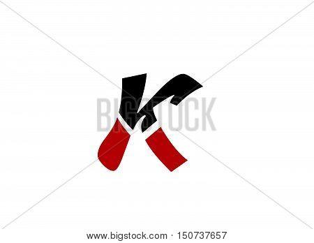 Abstract letter K logo icon design .Abstract logo design template