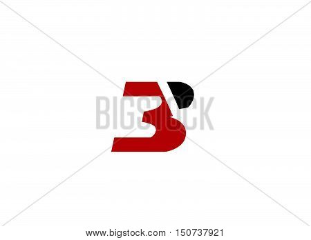 Number three logo.Logo 3 vector template .company linked letter logo