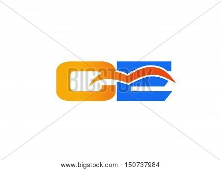 Ce logo. company linked letter logo template