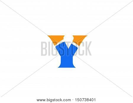 Vector illustration of abstract icons based on the letter Y logo