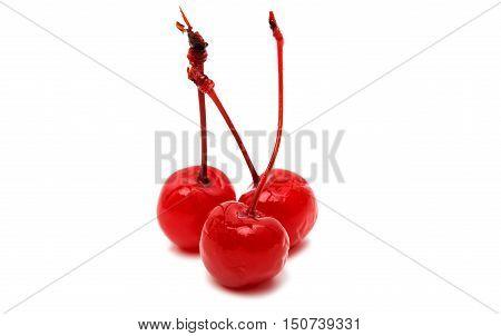 maraschino cherry isolated on a white background