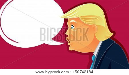 October 7, 2016, Donald Trump Vector Caricature