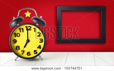 Communism Alarm Clock with blank photo frame copy space