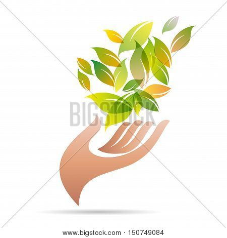 Vector sign friendly environment, isolated in white