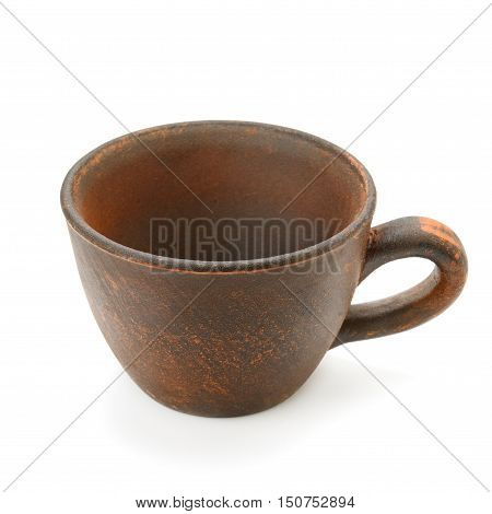 A ceramic cup isolated on white background