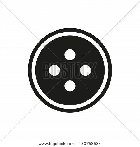The button sewing icon on white background Created For Mobile Infographics Web Decor Print Products Applications. Icon isolated. Vector illustration