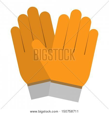 Yellow gloves hand protection