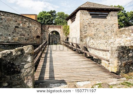 Entry to the basilica in Esztergom Hungary. Architectural scene. Cultural heritage. Travel destination.