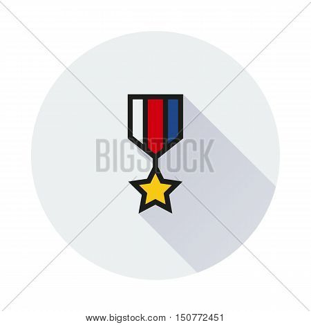 The medal icon. honor symbol on white background Created For Mobile Web Decor Print Products Applications. Icon isolated. Vector illustration