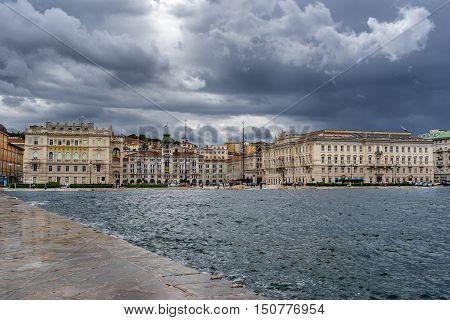 The Piazza Dell Unita d Italia in Trieste
