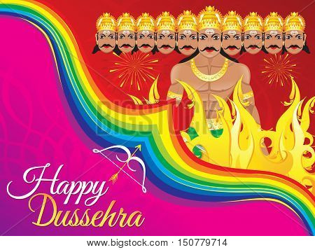abstract artistic detailed dussehra background vector illustration
