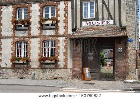Neufchatel en Bray France - june 23 2016 : the Mathon Durand museum