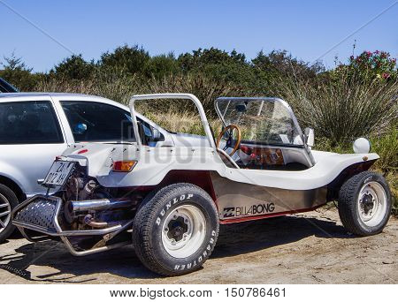 GOLFO ARANCI , ITALY - AUGUST 20: 2016 vintage off-road car Volkswagen Dune Buggy