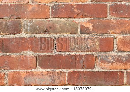 building, construction, architecture, brickwork and exterior concept - old brick wall background