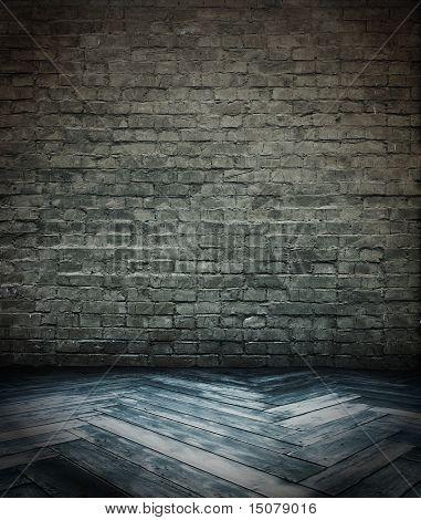 vintage interior with brick wall