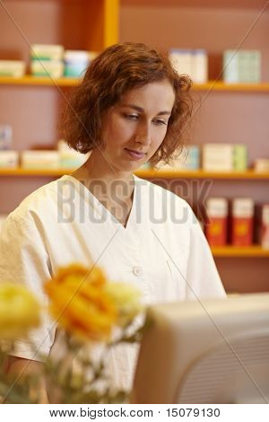 Pharmacist At The Computer